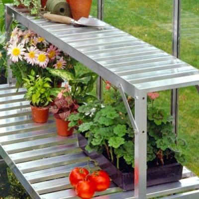 Halls Aluminum Greenhouse Bench