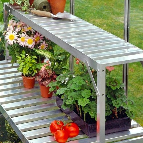 Aluminum Greenhouse Bench By Halls Planet Natural