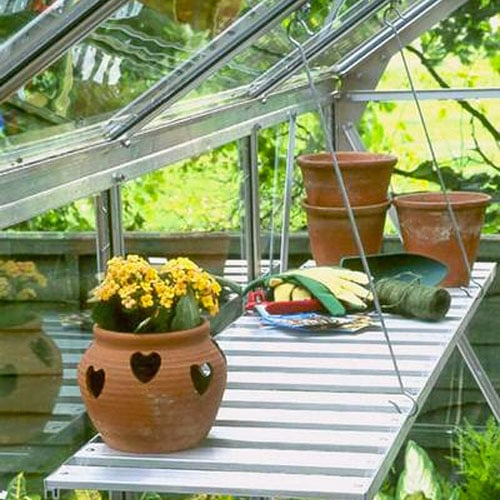 Foldaway Greenhouse Bench By Halls Planet Natural
