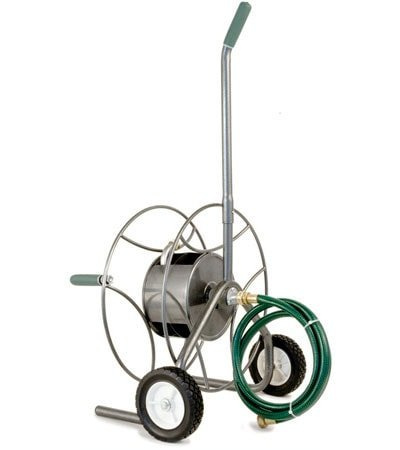 Garden Hose Cart w Wheels by Yard Butler Planet Natural