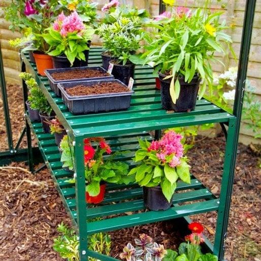 Halls Greenhouse Bench (Classic Green)