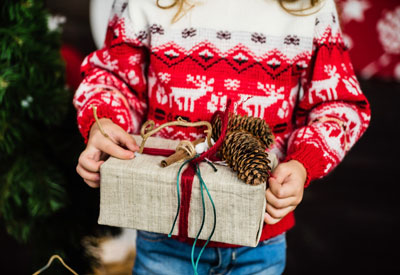 Child with Present