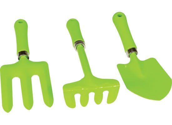 Kids garden tool set 3pc planet natural for Gardening tools toddlers