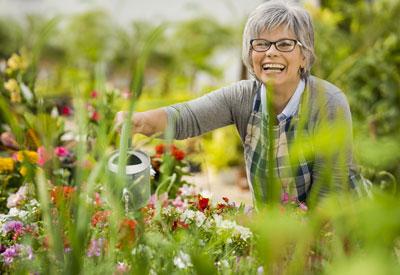 Happy in the Garden