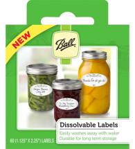 Ball Dissolvable Labels