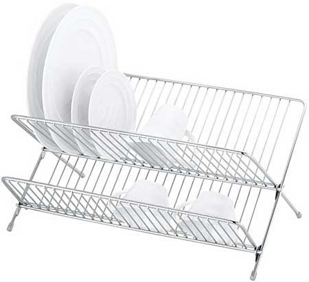 Stainless Steel Dish Rack Folding Planet Natural